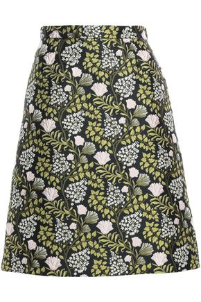 GIAMBATTISTA VALLI Flared jacquard mini skirt
