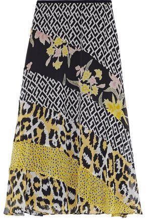 DIANE VON FURSTENBERG Printed silk-chiffon midi skirt