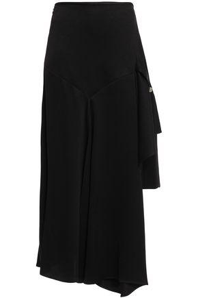 ELLERY Faintest Sound asymmetric satin-crepe mini skirt