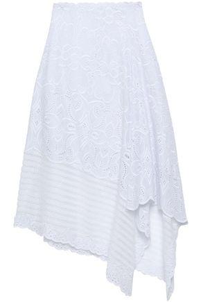 JONATHAN SIMKHAI アシンメトリー イギリス刺繍入り コットン スカート