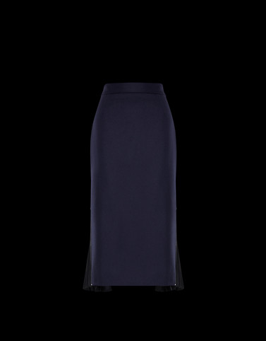 SKIRT Dark blue Trousers