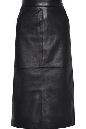 MUUBAA Leather midi skirt
