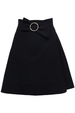 CLAUDIE PIERLOT Flared bow-embellished woven skirt