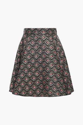 DOLCE & GABBANA Flared metallic jacquard mini skirt