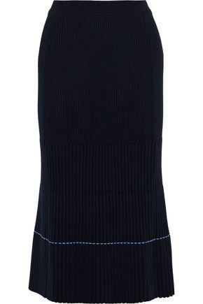 Ribbed Knit Midi Skirt by Victoria Beckham