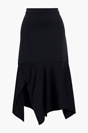 Asymmetric Crepe Midi Skirt by Victoria Beckham
