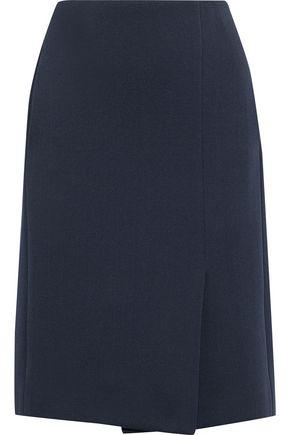 LANVIN Wrap-effect ponte skirt