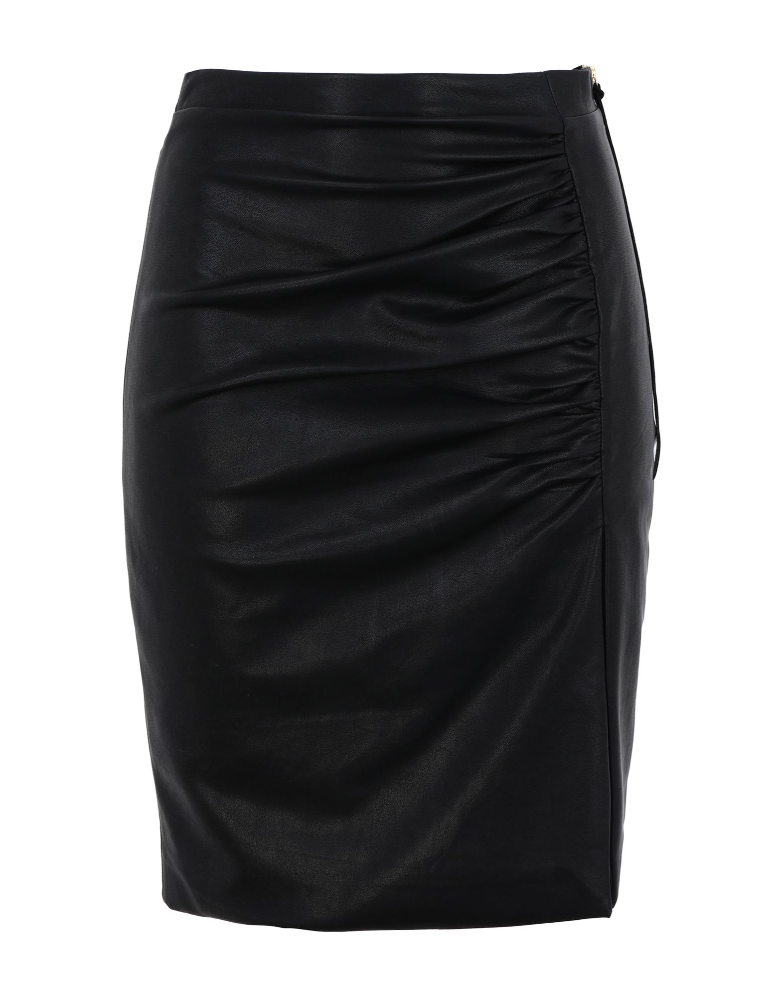 《セール開催中》NINEMINUTES レディース ひざ丈スカート ブラック 38 ポリウレタン 100%