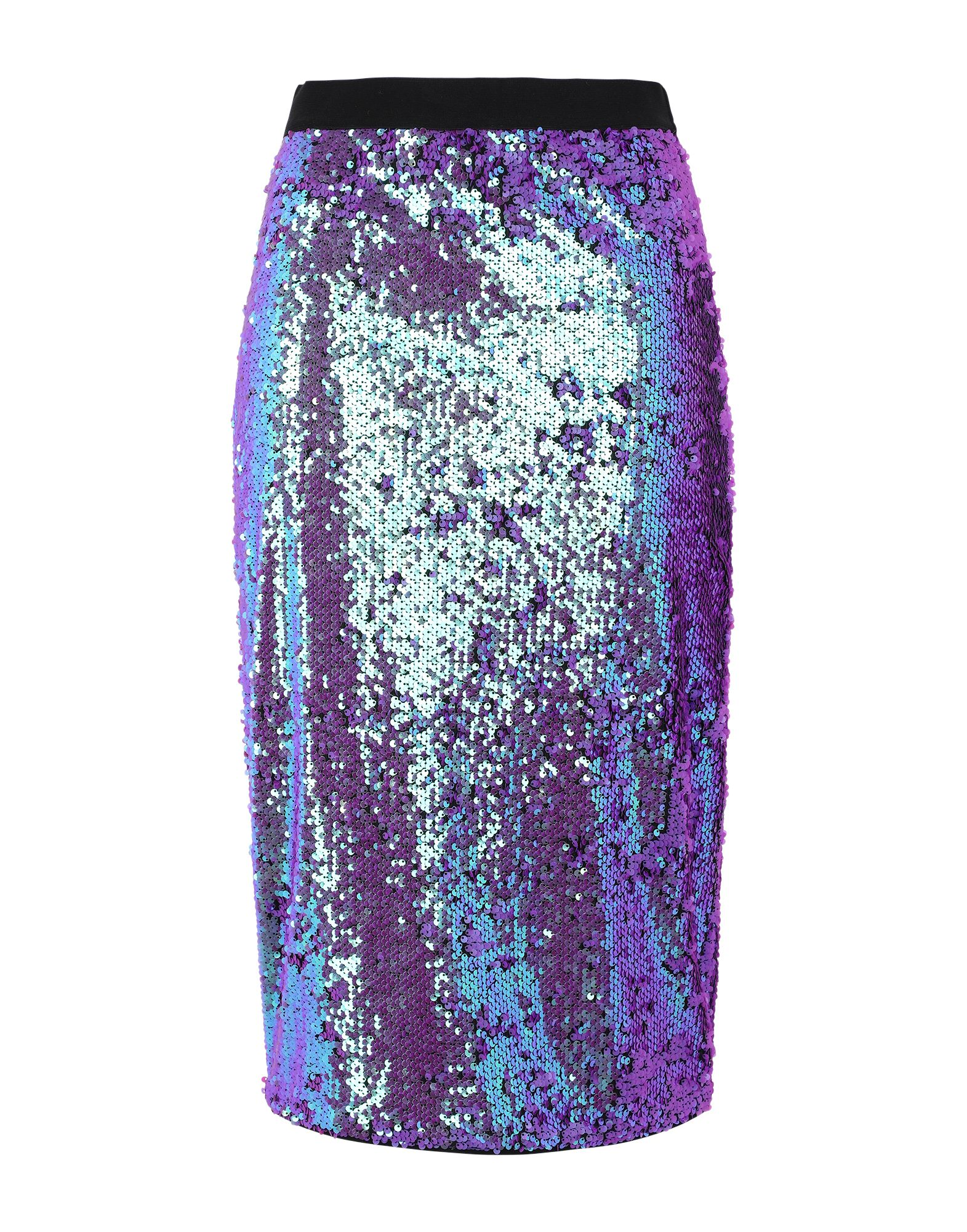 《セール開催中》ESSENTIEL ANTWERP レディース 7分丈スカート パープル 38 ポリエステル 100% TEMPTATION6 SEQUINED SKIRT