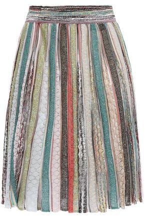 ミッソーニ フレア メタリックかぎ針編みニット スカート