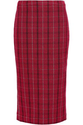 McQ Alexander McQueen Checked tweed midi pencil skirt