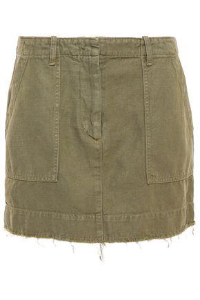 NILI LOTAN Frayed denim mini skirt