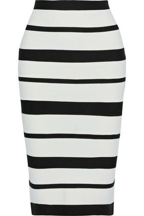 HERVÉ LÉGER Striped bandage pencil skirt
