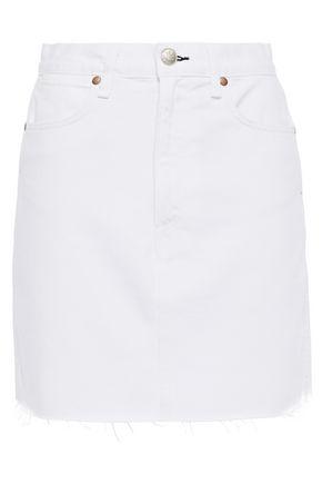 RAG & BONE Moss frayed denim mini skirt