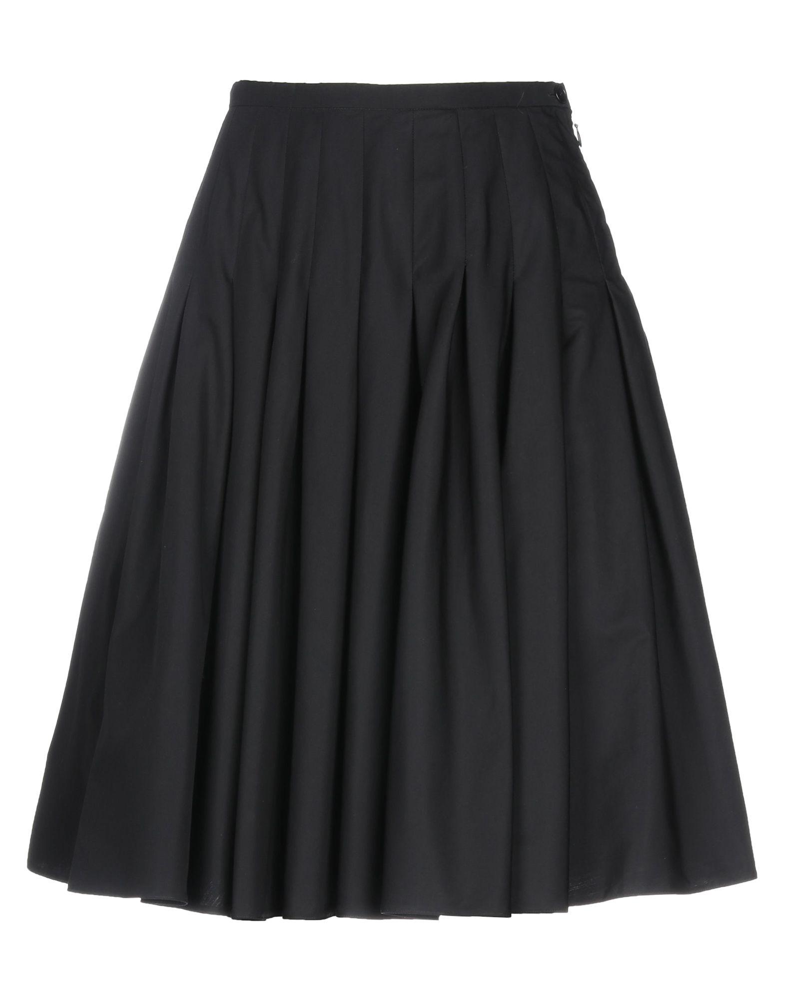 《セール開催中》ASPESI レディース ひざ丈スカート ブラック 40 コットン 100%