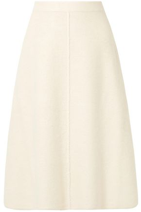 CO Alpaca and wool-blend midi skirt