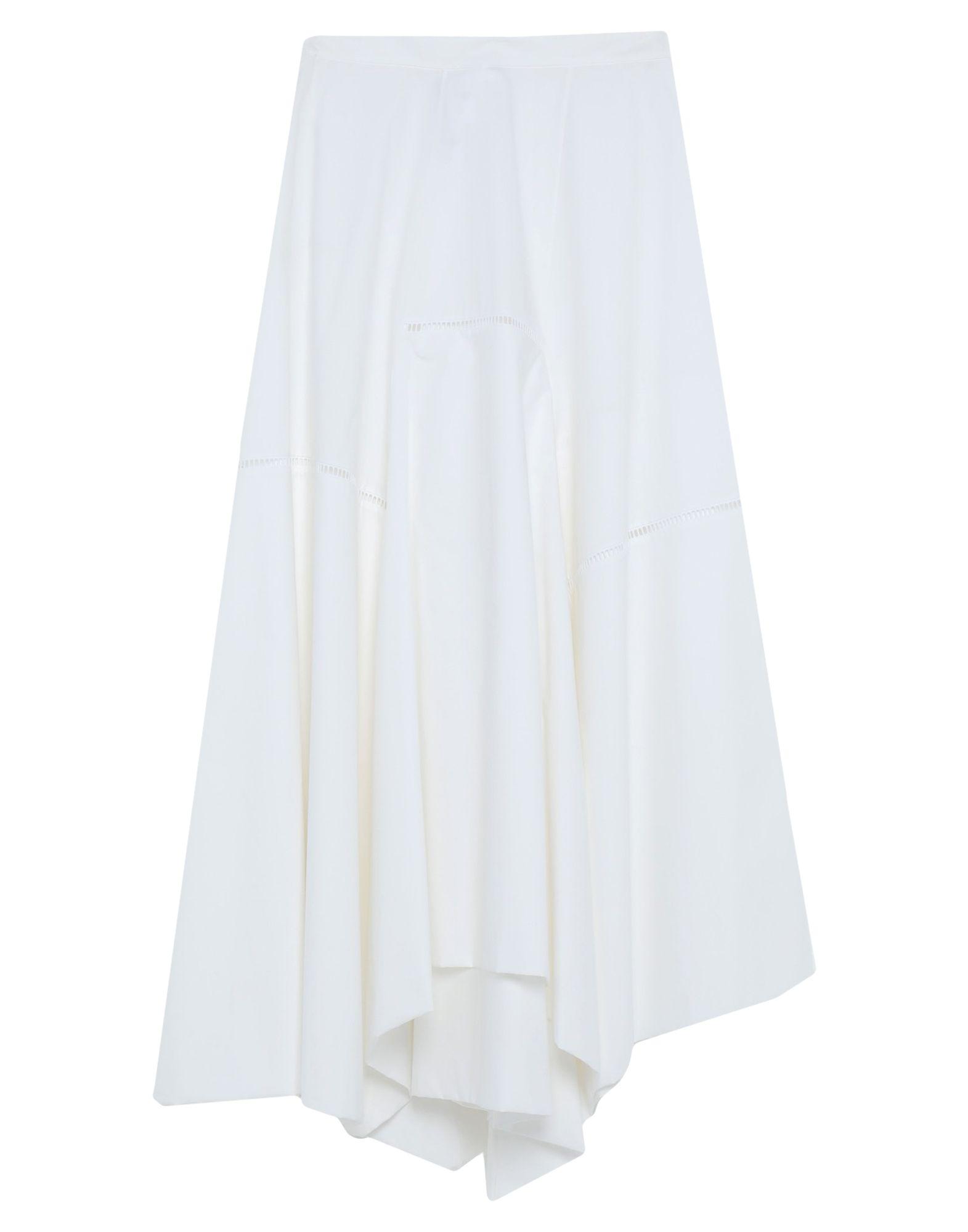 LOEWE Long skirts. plain weave, no appliqués, basic solid color, no pockets, side closure, zip, unlined. 100% Cotton