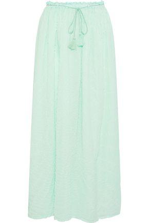 ANTIK BATIK Khula tie-dyed crinkled cotton-gauze maxi skirt