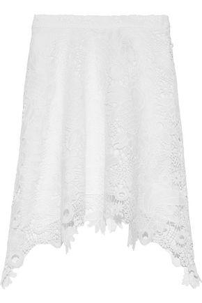 ANTIK BATIK Thelma asymmetric macramé lace mini skirt