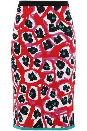 DIANE VON FURSTENBERG Wool-blend jacquard pencil skirt