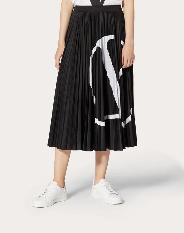 Vロゴ ジャージー プリーツスカート