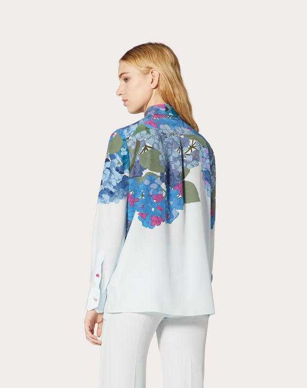 Printed Crepe de Chine Shirt