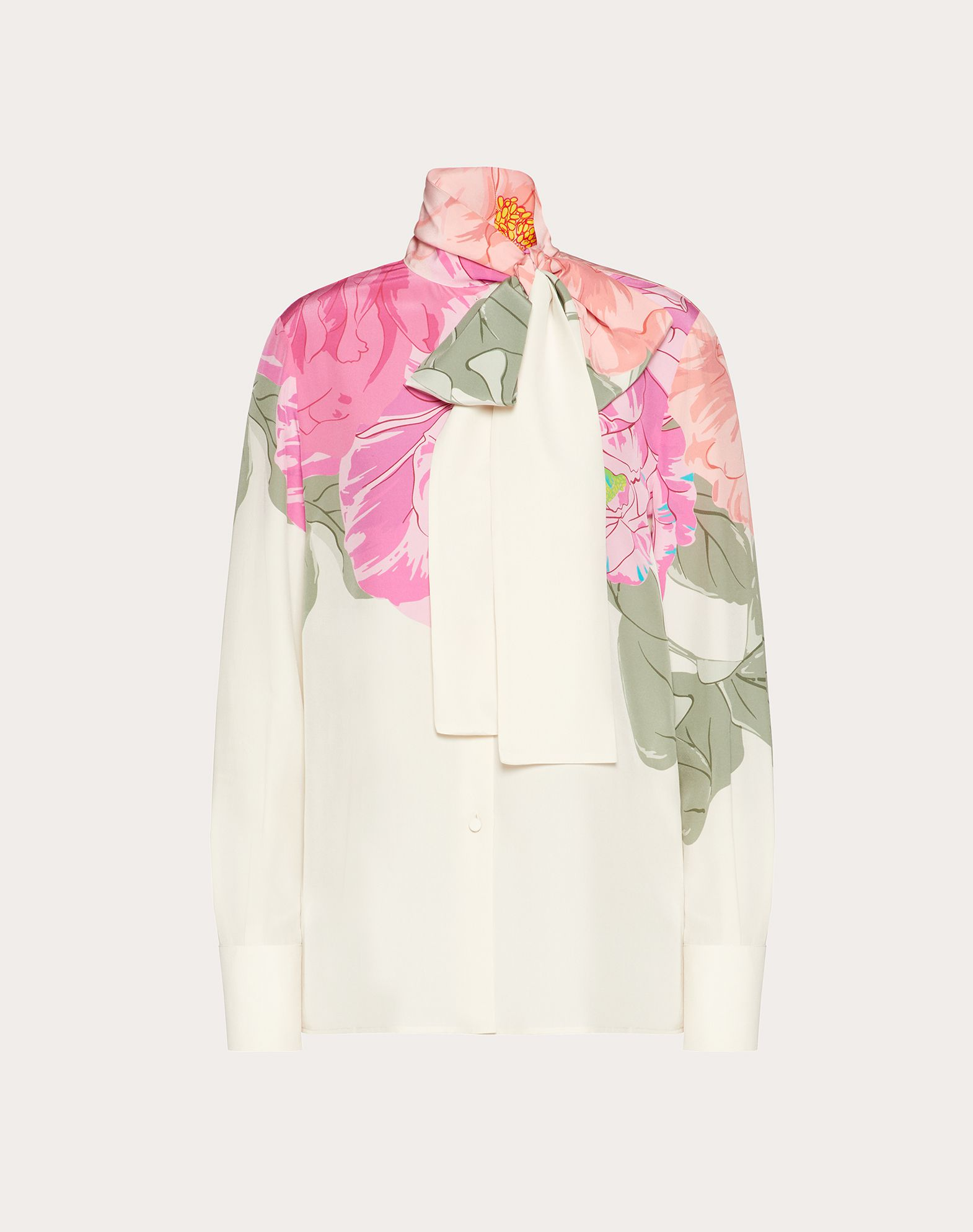 Printed Crepe de Chine Shirt