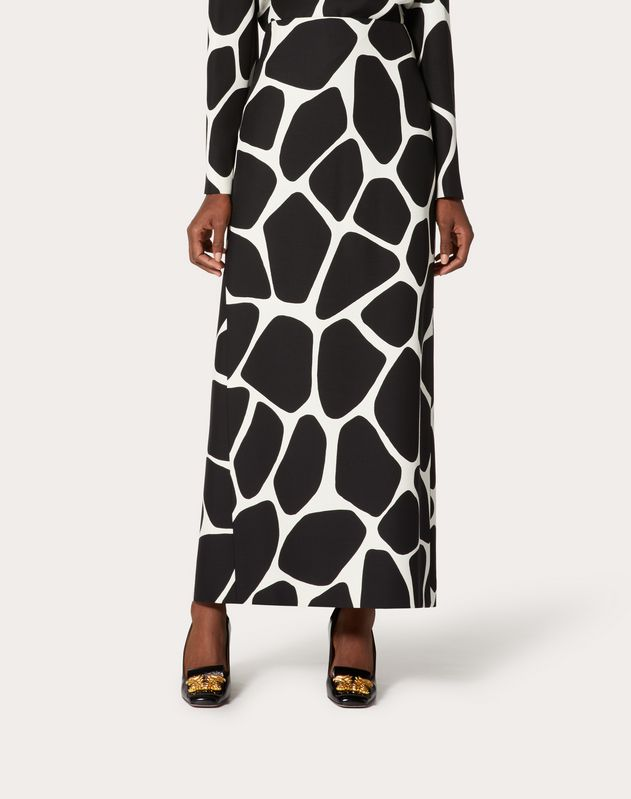 Printed Crepe Couture Skirt
