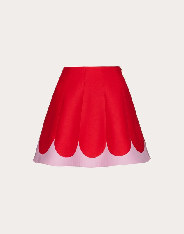 Two-Tone Crepe Couture Miniskirt