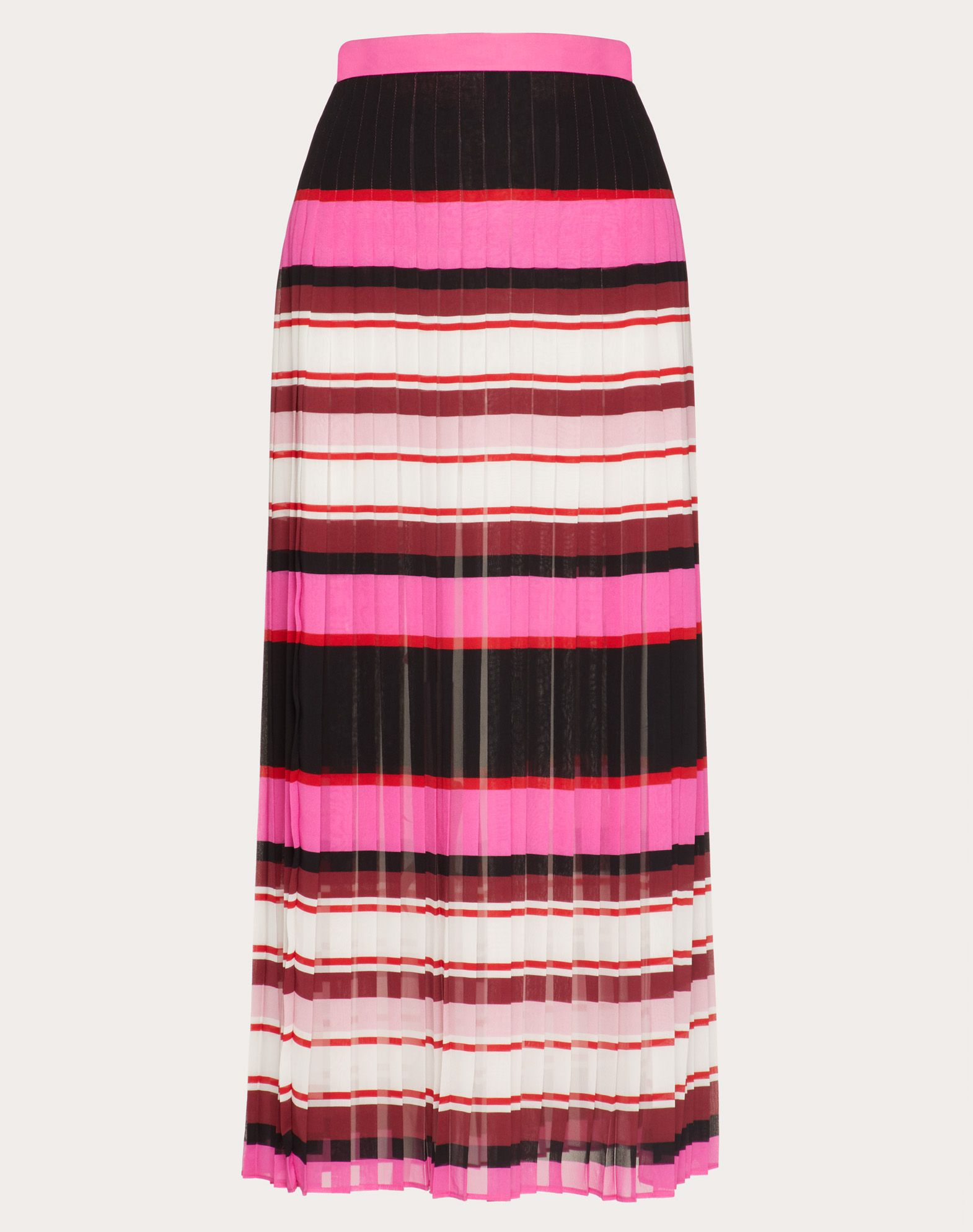 Printed Georgette Skirt with Pleats