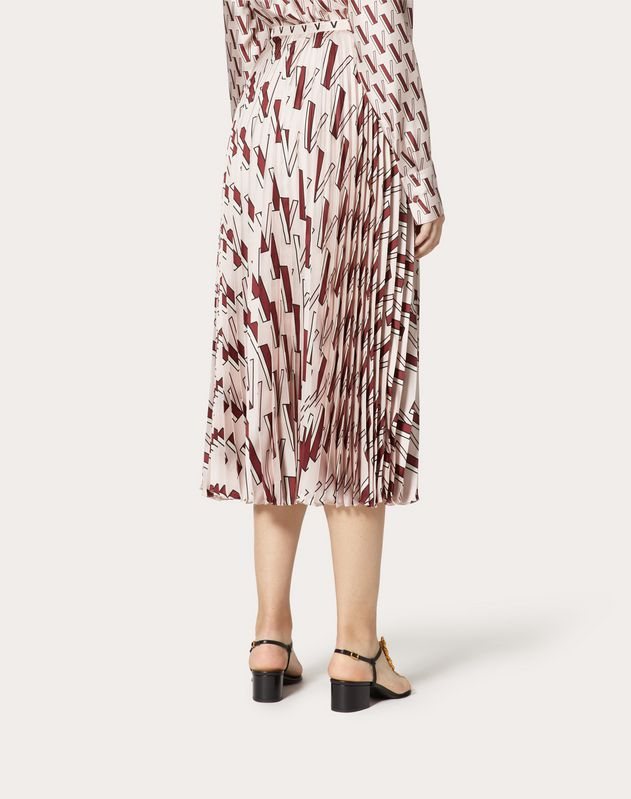 Printed Twill Skirt