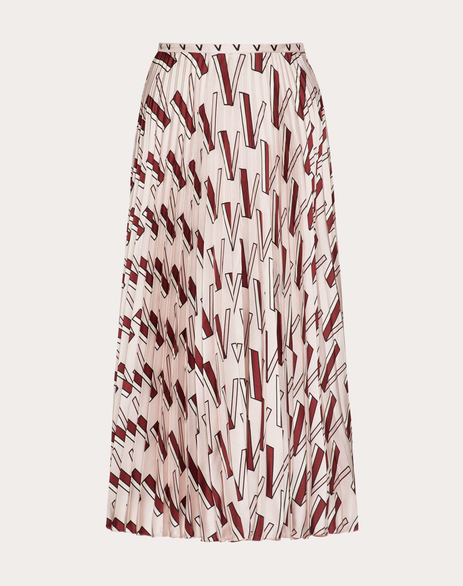 Printed Twill Skirt