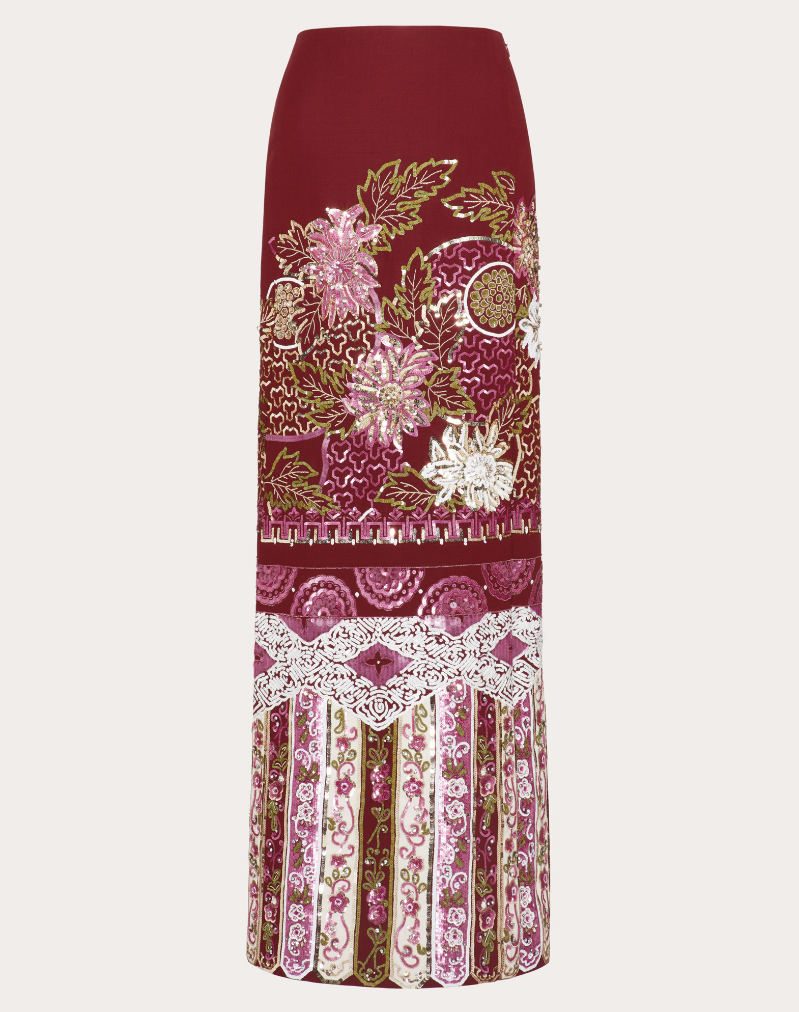 Embroidered Crepe Couture Skirt