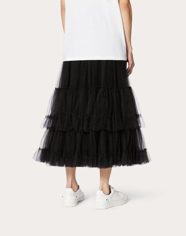 Flounce Tulle Skirt