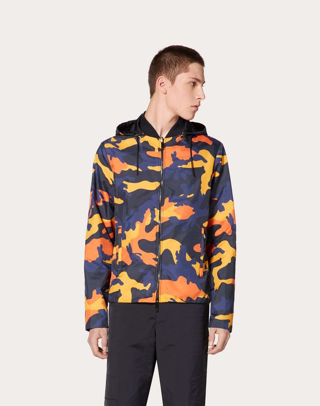 CAMOUFLAGE REVERSIBILE WINDBREAKER
