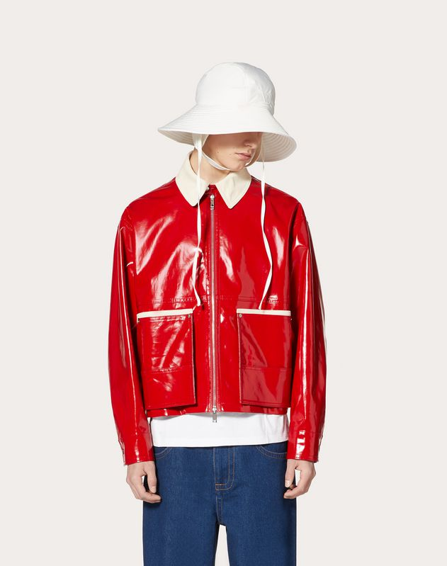 BLOUSON WITH CONTRAST COLLAR