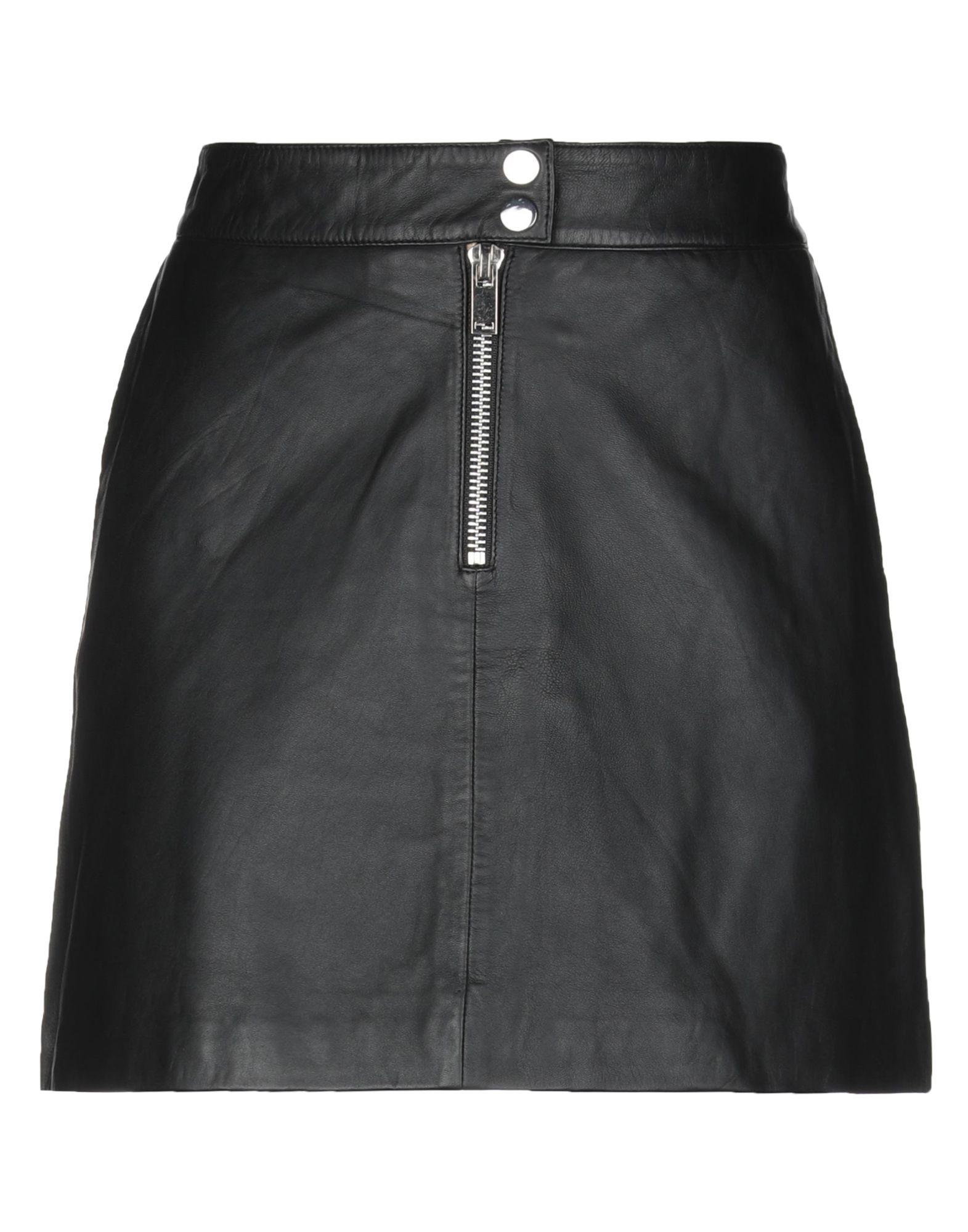 《セール開催中》VERO MODA レディース ミニスカート ブラック M 革 100%