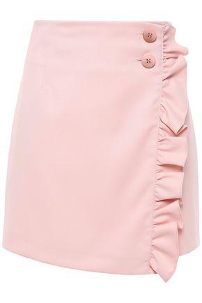 BAUM UND PFERDGARTEN ラッフル付き チェックツイル ミニラップスカート