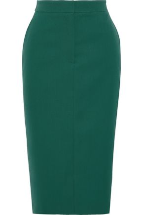 CALVIN KLEIN 205W39NYC Striped wool-twill pencil skirt