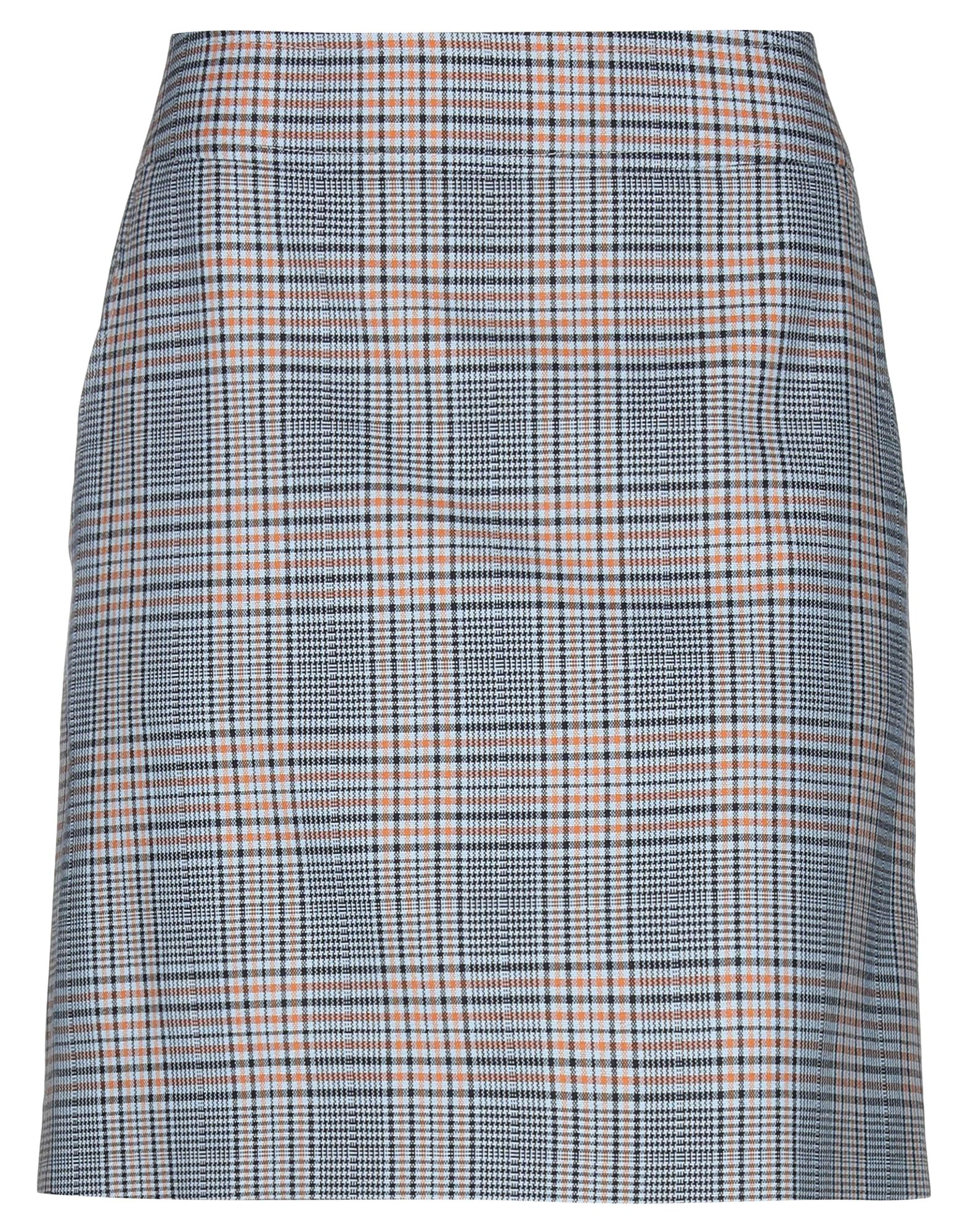 AKRIS PUNTO Knee length skirts. cool wool, no appliqués, prince of wales design, multipockets, rear closure, button, zip, fully lined. 58% Wool, 42% Polyamide