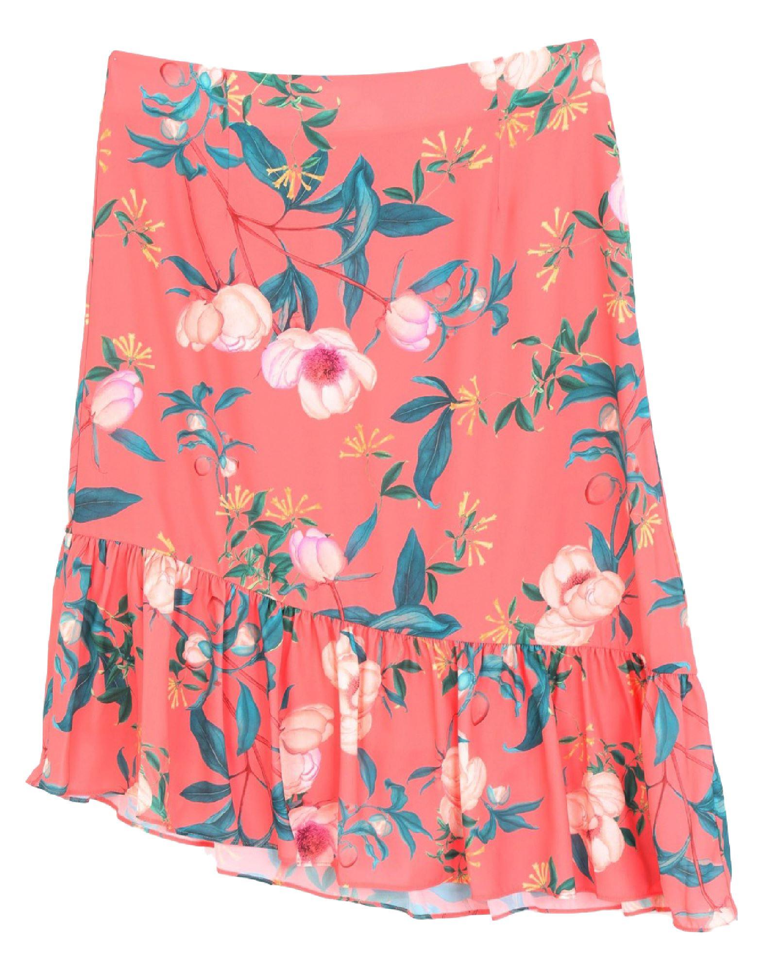 《セール開催中》BY MALINA レディース 7分丈スカート コーラル XS ポリエステル 100%