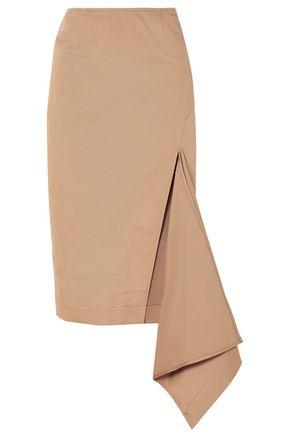 MONSE Asymmetric cotton-blend gabardine skirt