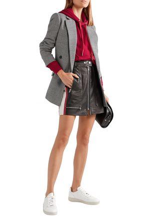 Isabel Marant Étoile Alynne Striped Leather Mini Skirt In Black