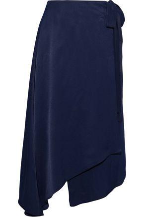 LES HÉROÏNES by VANESSA COCCHIARO The Maya asymmetric satin wrap skirt