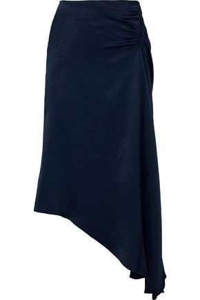 LES HÉROÏNES by VANESSA COCCHIARO The J.K. asymmetric ruched satin skirt