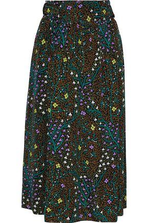"JOSEPH تنورة ملتفة ""بيتي"" من قماش كريب دي شين الحريري المطبع بالورود"