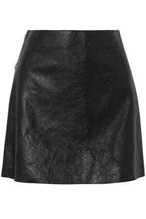 SONIA RYKIEL Textured-leather mini skirt