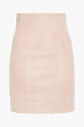 BALMAIN Nubuck mini skirt
