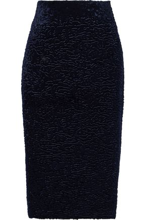 EACH X OTHER تنورة من قماش كلوكيه المخملي