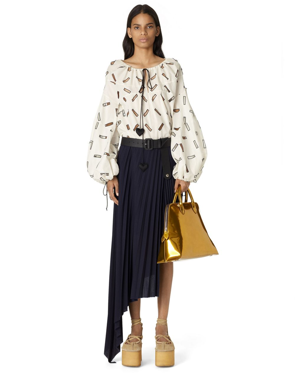 SUNBURST PLEATED WRAP-OVER SKIRT - Lanvin